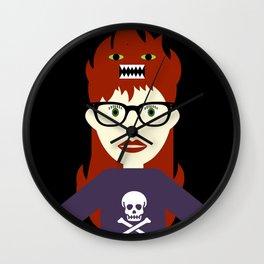 Monster On My Head Wall Clock