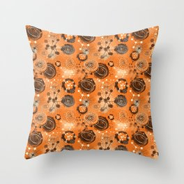 molecules Throw Pillow