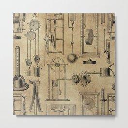 Instruments of Time Neck Gator Pedulum Clocks Vintage Timepieces Metal Print