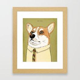 Mad Men Dogs: Ken Corgi Framed Art Print