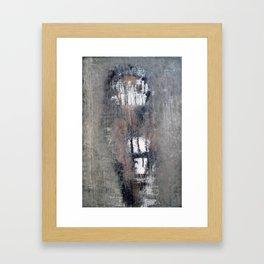 """""""1232-1 antique green girl"""" Framed Art Print"""