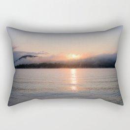 Reborn: Sunrise on Lake George Rectangular Pillow