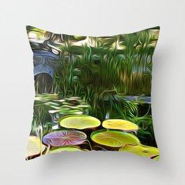 Greenery Pond Throw Pillow