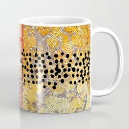Orange Gold Burst Abstract Art Collage Coffee Mug