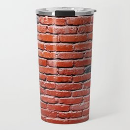 Background with painted brick wall Travel Mug