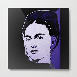 FRIDA purple - LIFE CURRENT  series... Metal Print