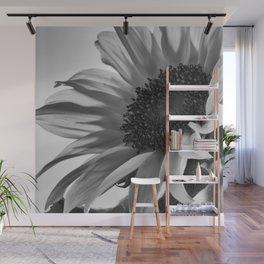 Sunflower Black & White Wall Mural