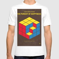 No775 My The Pursuit of Happyness minimal movie poster MEDIUM Mens Fitted Tee White