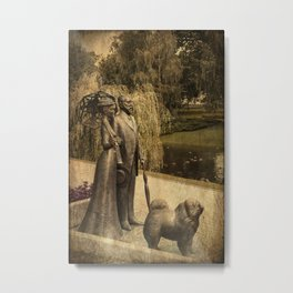 Sunday afternoon in the park Riga Latvia  Metal Print