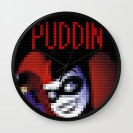 Harley Quinn - Puddin - Toy Building Bricks Wall Clock