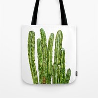 cacti Tote Bags featuring CACTI by Jennifer Lambein