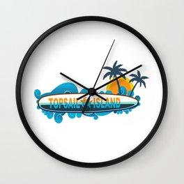 Topsail Island - North Carolina. Wall Clock