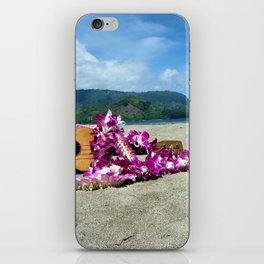 Ukulele at the bay iPhone Skin