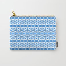 Dividers 02 in Blue over White Carry-All Pouch