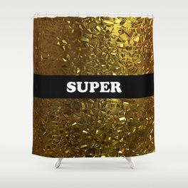 Super Gold Shower Curtain