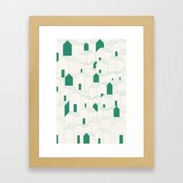 Hill Houses Framed Art Print