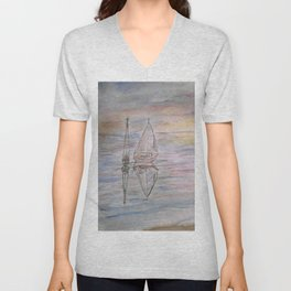 Calm Sunset Unisex V-Neck