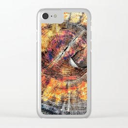 Tree Stump Ring Circle Clear iPhone Case
