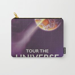 Tour the universe space travel poster Carry-All Pouch