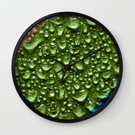 Abstract Colorful Wet Paper 02 Wall Clock