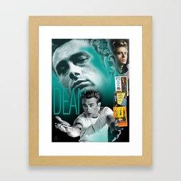JD Portrait Collage Framed Art Print