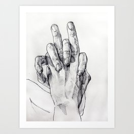 Hand Sketch 3 Art Print
