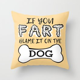 Dog House Rules Throw Pillow