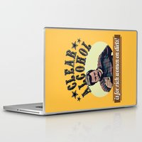 alcohol Laptop & iPad Skins featuring Clear Alcohol is for Rich Women on Diets!  |  Ron Swanson by Silvio Ledbetter
