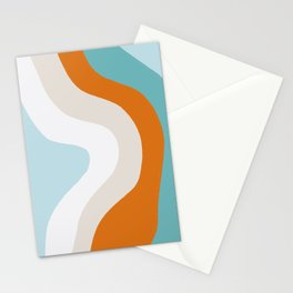 moab, teal & orange Stationery Cards