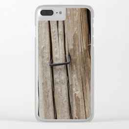 Old Wood Clear iPhone Case