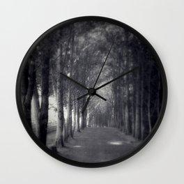 A Tree-lined Path Wall Clock
