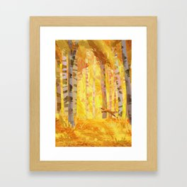 journey of color - yellow Framed Art Print
