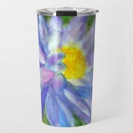 Blue Violet Lotus flower Travel Mug
