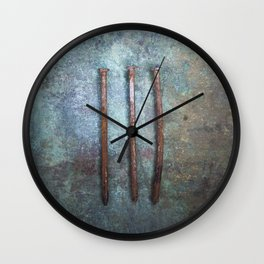 Three Nails Wall Clock