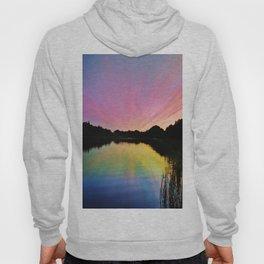 Pastel Rainbow Sunset Lake Hoody