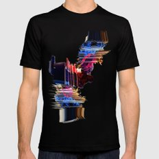 psychedelic Love Black Mens Fitted Tee MEDIUM