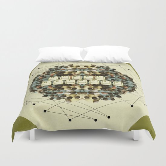 Human Network Duvet Cover