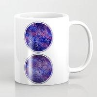maps Mugs featuring Star Maps by Stevyn Llewellyn
