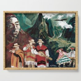 The ANDES             by Kay Lipton Serving Tray