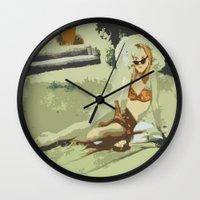 lolita Wall Clocks featuring Lolita by Dano77