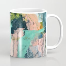 Connect [3]: a vibrant acrylic abstract in neon green, blues, pinks, & hints of orange Coffee Mug
