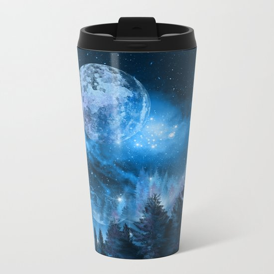 Night forest Metal Travel Mug
