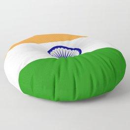 India: Indian Flag Floor Pillow