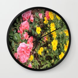 Flower Contrast Wall Clock