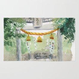Shinto shrine gate Rug