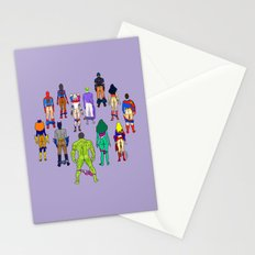 Superhero Power Couple Butts - Violet Stationery Cards