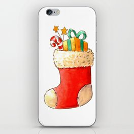 Santa's stocking iPhone Skin