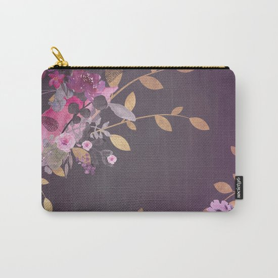 FLOWERS & GOLD  Carry-All Pouch
