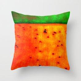 Orange Field Throw Pillow