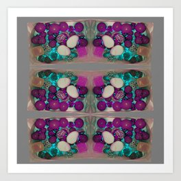 neon candy! grey Art Print